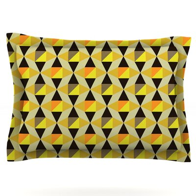 Onyx by Louise Machado Featherweight Pillow Sham Size: King, Fabric: Cotton