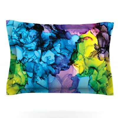 Mermaids by Claire Day Featherweight Pillow Sham Size: Queen, Fabric: Cotton