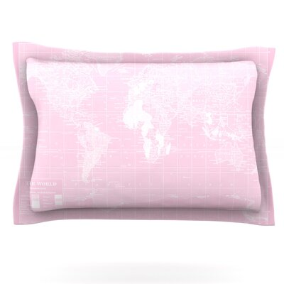 Her World by Catherine Holcombe Featherweight Pillow Sham Size: King, Fabric: Cotton