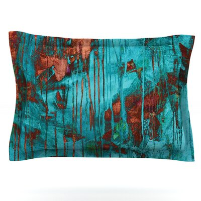 Rusty Teal by Iris Lehnhardt Featherweight Pillow Sham Size: King, Fabric: Cotton