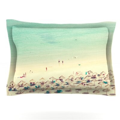 Happy Summer by Ingrid Beddoes Featherweight Pillow Sham Size: King, Fabric: Cotton