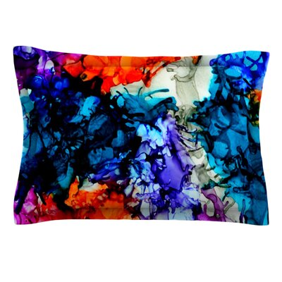 Evanescence by Claire Day Featherweight Pillow Sham Size: King, Fabric: Cotton