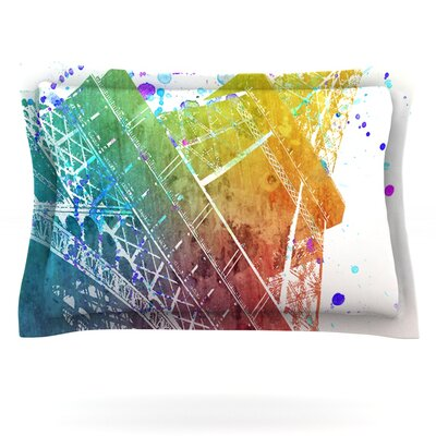 Paris Je Taime by Nika Martinez Featherweight Pillow Sham Size: King, Fabric: Cotton