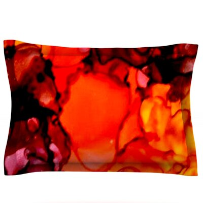 Mordor by Claire Day Featherweight Pillow Sham Size: Queen, Fabric: Cotton