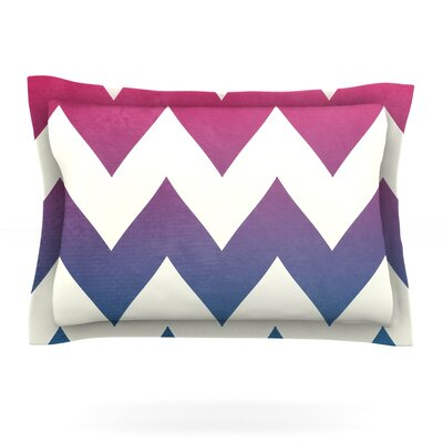 Fade to Blue by Catherine McDonald Featherweight Pillow Sham Size: King, Fabric: Cotton