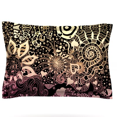 Neptunes Garden II by Monika Strigel Featherweight Pillow Sham Size: King, Fabric: Cotton