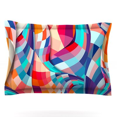 Versicolor by Danny Ivan Featherweight Pillow Sham Size: Queen, Fabric: Cotton