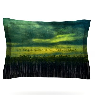I Like This Place by Robin Dickinson Featherweight Pillow Sham Size: King, Fabric: Cotton