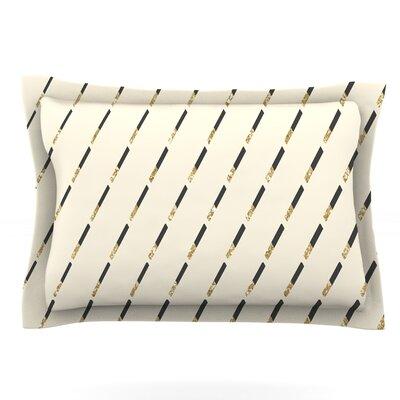 Glitter Diagonals by Nika Martinez Pillow Sham Size: King, Fabric: Cotton