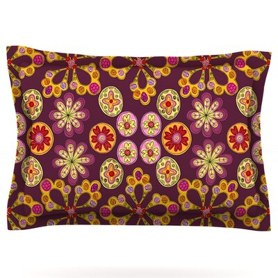 Indian Jewelry Floral by Jane Smith Featherweight Pillow Sham Size: King, Fabric: Cotton