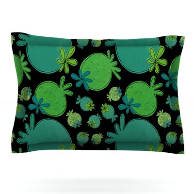 Garden Pods by Jane Smith Featherweight Pillow Sham Size: Queen, Fabric: Cotton