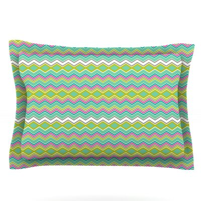 Chevron Love by Nicole Ketchum Featherweight Pillow Sham Size: Queen, Fabric: Cotton