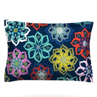 Multi Flower by Jolene Heckman Featherweight Pillow Sham Size: King, Fabric: Cotton