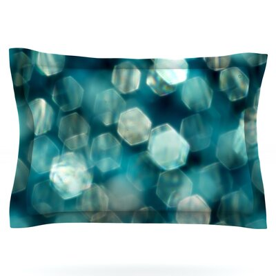 Shades of Blue by Ingrid Beddoes Featherweight Pillow Sham Size: King, Fabric: Cotton