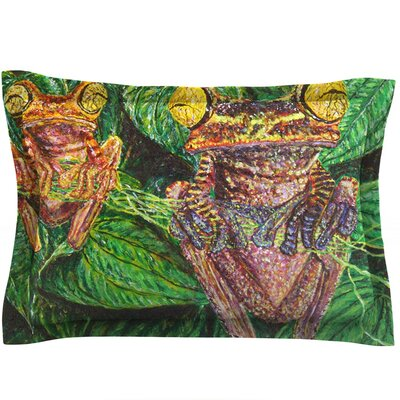 Frogs by David Joyner Featherweight Pillow Sham Size: King, Fabric: Cotton