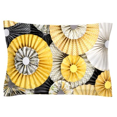 Heidi Jennings Daffodil Yellow Black Featherweight Sham Size: King, Fabric: Cotton