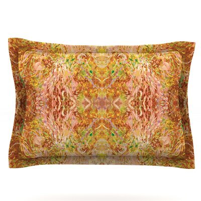 Goldenrod II by Nikposium Featherweight Pillow Sham Size: Queen, Fabric: Cotton