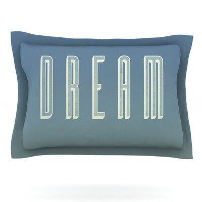Dream Print by Galaxy Eyes Featherweight Pillow Sham Size: King, Fabric: Cotton