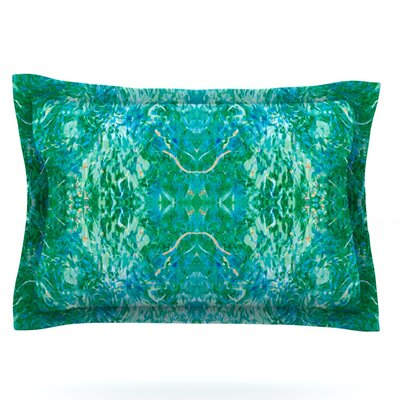 Nikposium Eden Teal Green Featherweight Sham Size: King, Fabric: Cotton