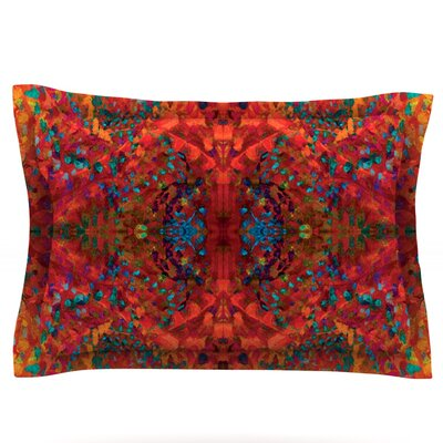 Nikposium Red Sea Orange Abstract Featherweight Sham Size: King, Fabric: Cotton