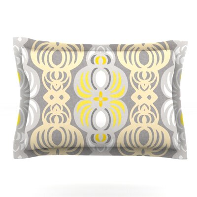 Chalene by Gill Eggleston Featherweight Pillow Sham Size: Queen, Fabric: Cotton