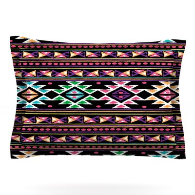 Black Aylen by Nika Martinez Featherweight Pillow Sham Size: Queen, Fabric: Cotton