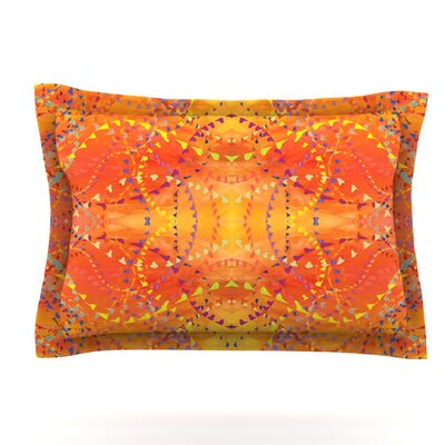 Nikposium Sunrise Orange Gold Featherweight Sham Size: Standard, Fabric: Cotton