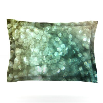 Teal Sparkle by Debbra Obertanec Featherweight Pillow Sham Size: King, Fabric: Cotton