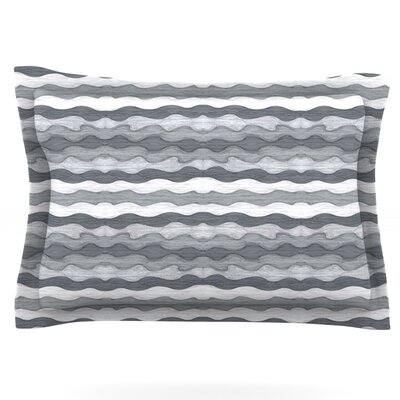 51 Shades of Gray by Empire Ruhl Featherweight Pillow Sham Size: King, Fabric: Cotton