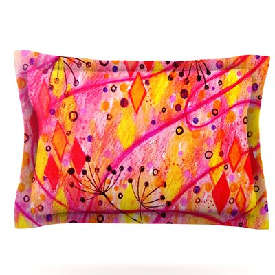 Into the Fall by Ebi Emporium Featherweight Pillow Sham Size: King, Fabric: Cotton