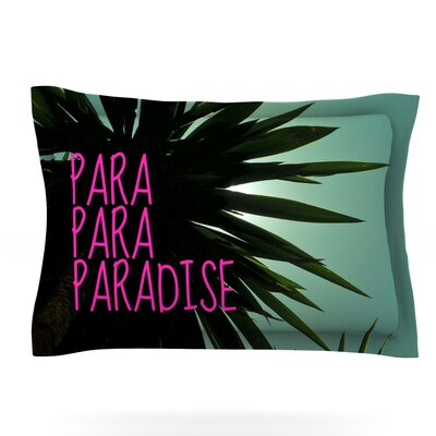 Exotic Paradise by Nika Martinez Featherweight Pillow Sham Size: King, Fabric: Cotton