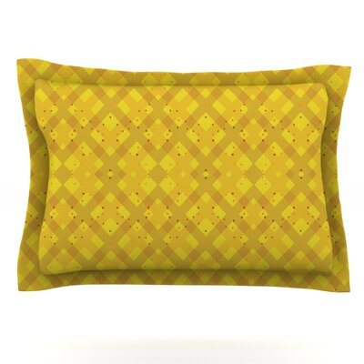 Dotted Plaid by Mydeas Featherweight Pillow Sham Size: Queen, Fabric: Cotton