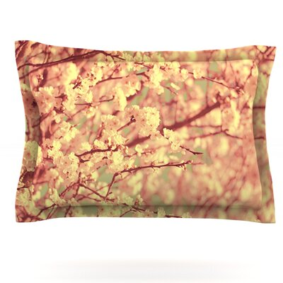 Vintage Blossoms by Ingrid Beddoes Featherweight Pillow Sham Size: Queen, Fabric: Cotton