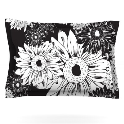 Midnight Florals by Laura Escalante Featherweight Pillow Sham Size: Queen, Fabric: Cotton
