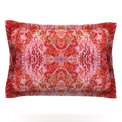 Nikposium Chili Pink Red Featherweight Sham Size: King, Fabric: Cotton