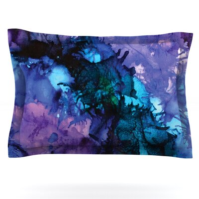 Claire Day Soul Searching Purple Blue Featherweight Sham Size: King, Fabric: Cotton