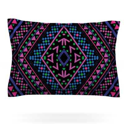 Neon Pattern by Nika Martinez Featherweight Pillow Sham Size: Queen, Fabric: Cotton