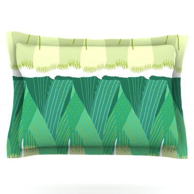 Leeks by Laura Nicholson Featherweight Pillow Sham Size: King, Fabric: Cotton