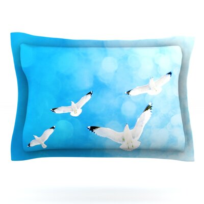 Fly Free by Robin Dickinson Featherweight Pillow Sham Size: Queen, Fabric: Cotton
