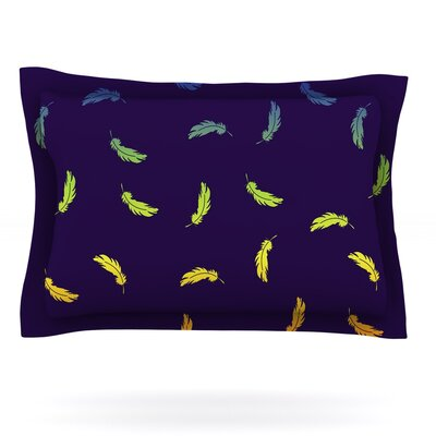 Rainbow Feathers Featherweight Pillow Sham Size: King, Fabric: Cotton