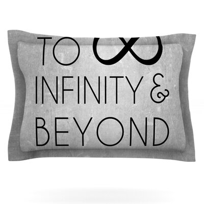 To Infinity & Beyond Featherweight Pillow Sham Size: King, Fabric: Cotton
