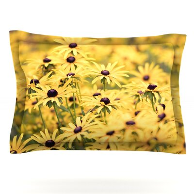 Pantone Yellow by Debbra Obertanec Featherweight Pillow Sham Size: King, Fabric: Cotton