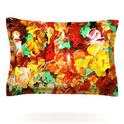Floral Fantasy II by Ebi Emporium Featherweight Pillow Sham Size: King, Fabric: Cotton