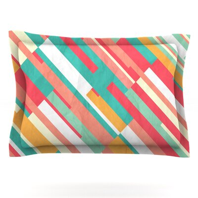 Droplines by Danny Ivan Featherweight Pillow Sham Size: Queen, Fabric: Cotton