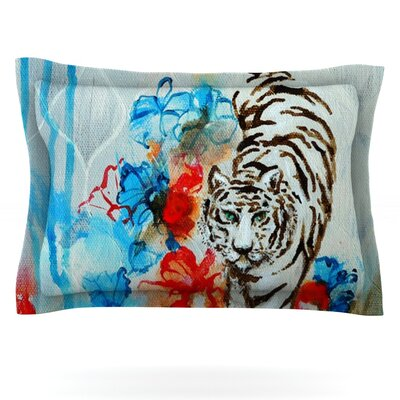 Tiger by Sonal Nathwani Featherweight Pillow Sham Size: Queen, Fabric: Cotton