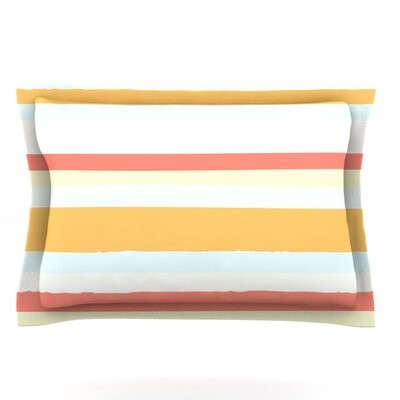 Sand Stripes by Nika Martinez Featherweight Pillow Sham Size: King, Fabric: Cotton