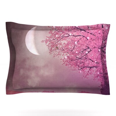 Song of the Springbird by Monika Strigel Featherweight Pillow Sham Size: Queen, Fabric: Cotton