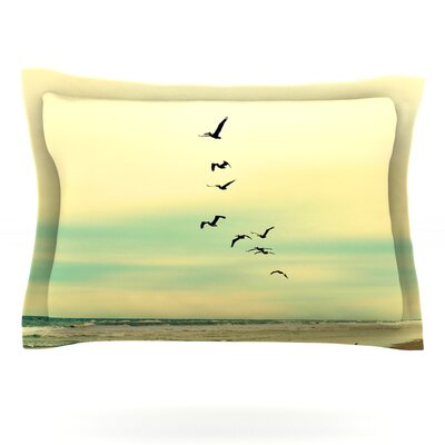 Across The Endless Sea by Robin Dickinson Featherweight Pillow Sham Size: King, Fabric: Cotton