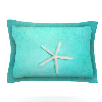 Sylvia Cook Starfish Featherweight Sham Size: King, Fabric: Cotton