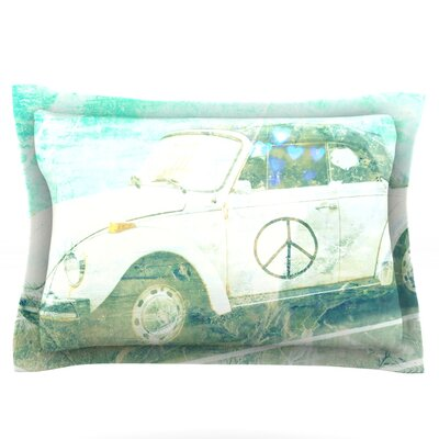 Love Bug by Robin Dickinson Featherweight Pillow Sham Size: King, Fabric: Cotton